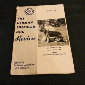 German Shepherd Dog Review March 1967 GSD Vintage